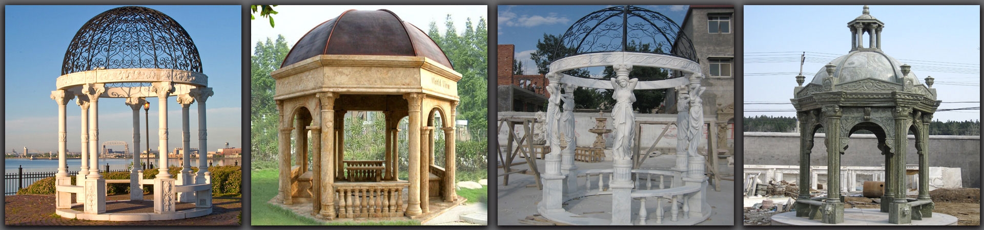 large marble gezebo for garden