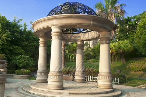 Large hot sale beige marble gazebo for sale2