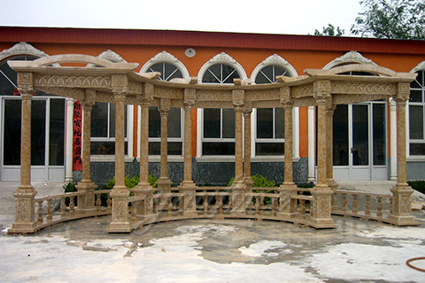 High quality hand carved grand marble gazebo