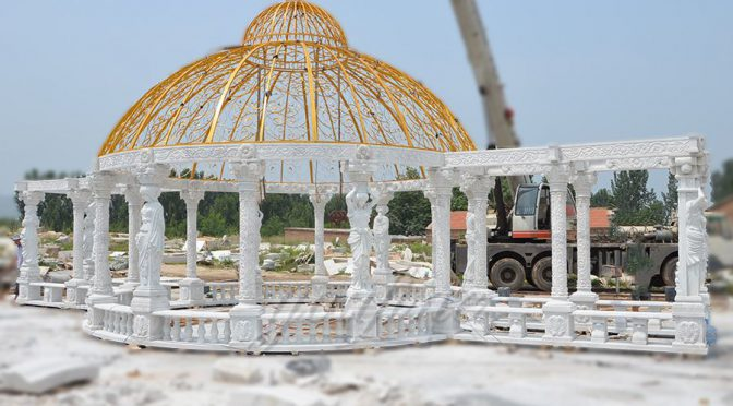 Large Outdoor luxury marble gazebo for decoration