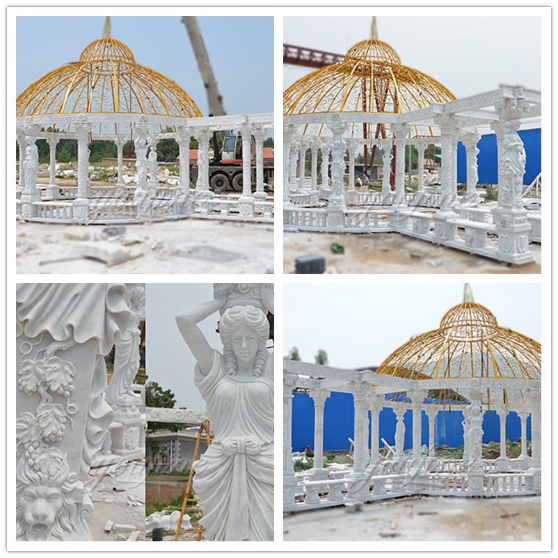 Outdoor luxury Large marble gazebo for decoration