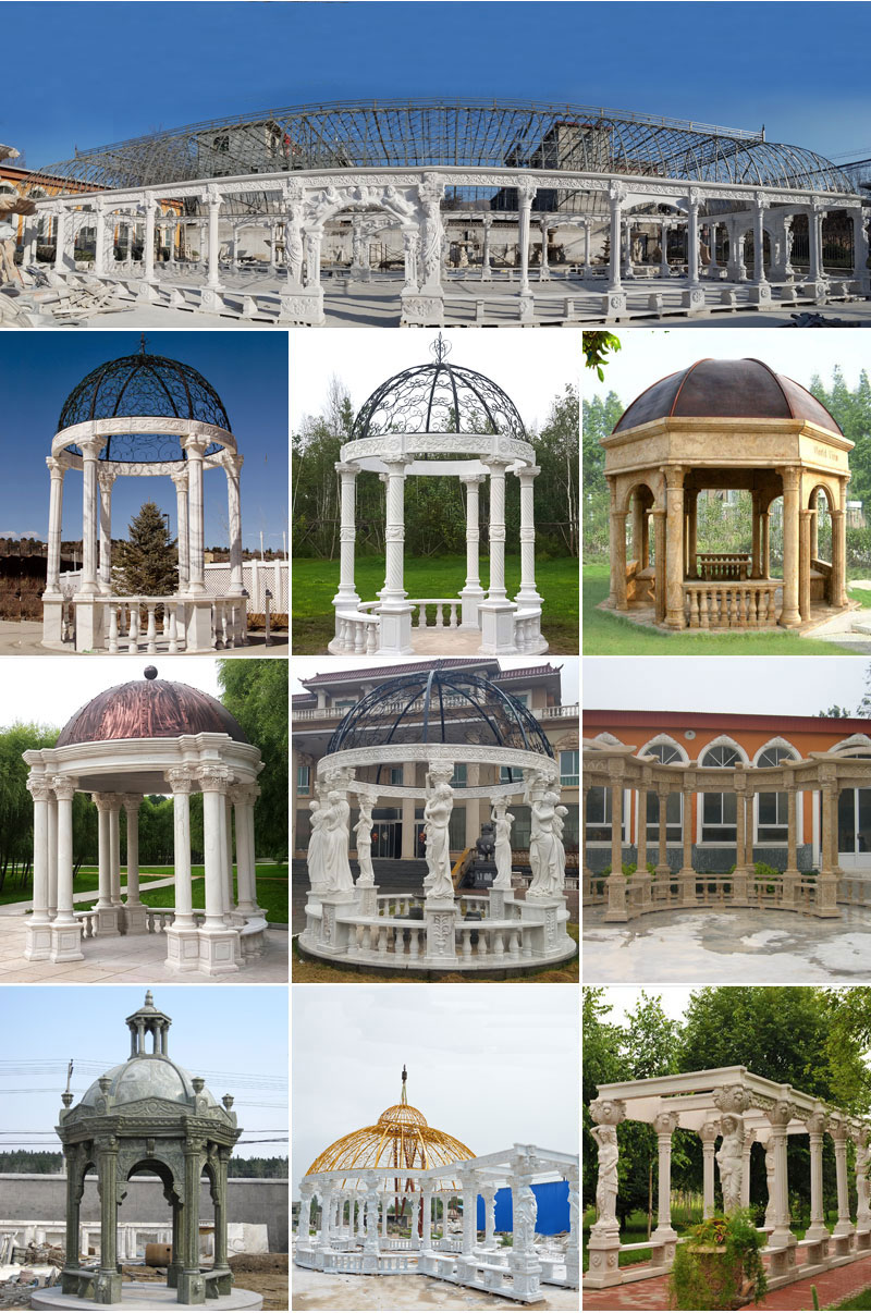 Popular designs outdoor marble carving garden luxury gazebo (2)